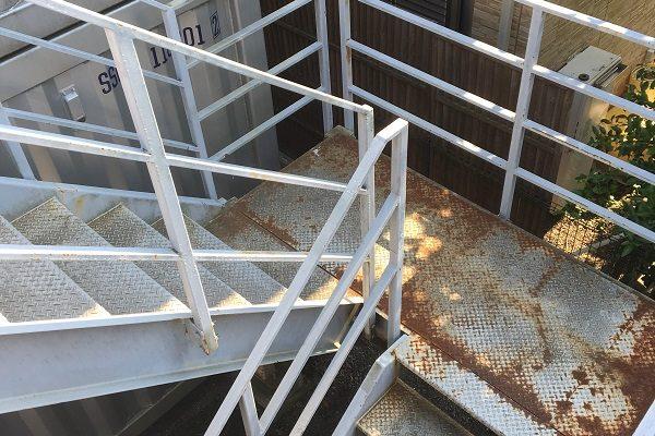 群馬県伊勢崎市 外壁塗装 付帯部塗装 鉄骨階段 事前調査 屋根・外壁0円診断