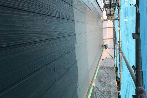 群馬県高崎市 外壁塗装 下地処理 高圧洗浄 無機系塗料「ダイヤスーパーセランフレックス」